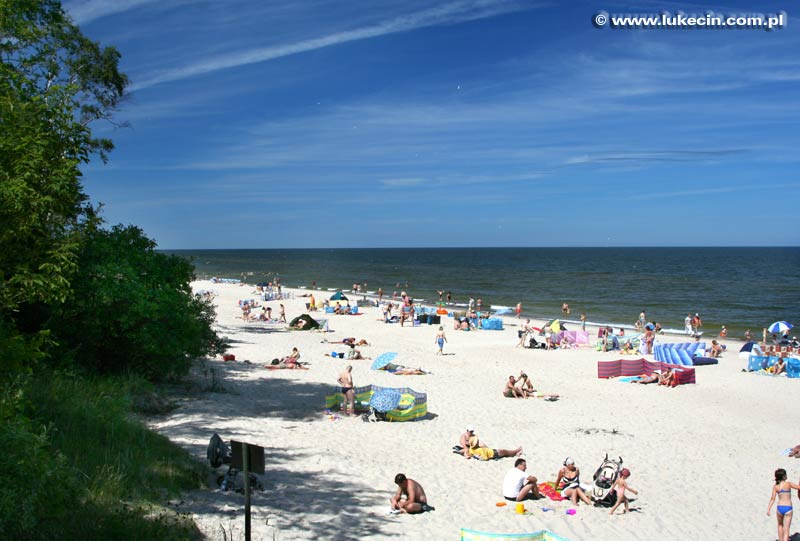 Plaża w Łukęcinie